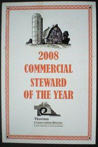 2008 comercial steward of the year award